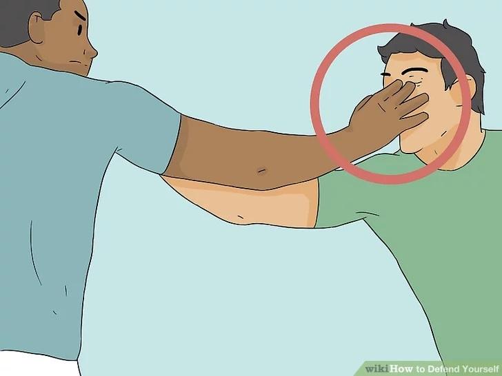 فرو کردن دست در چشم حریف - آموزش دفاع شخصی